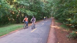 Cyclists on the Silver Comet Trail for article about Silver Comet Extension