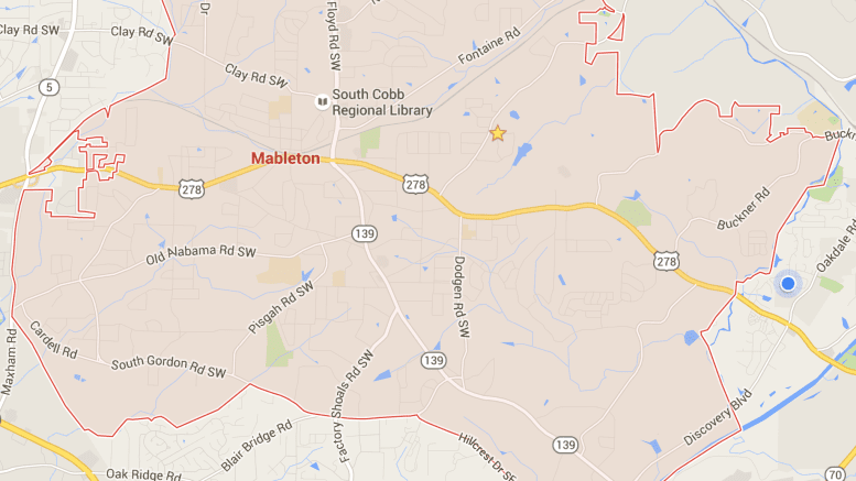 map of Mableton from Google Maps