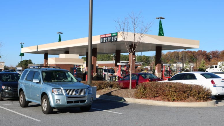 Kroger gas station on Concord Road and South Cobb Drive in article on how gas prices surged in Georgia over the past month