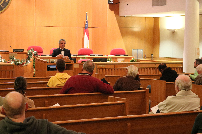 Smyrna residents listen to Daniel Dobry