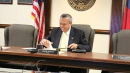 Chairman of the Cobb County Board of Commissioners, Michael Boyce & tax increase (photo by Larry Felton Johnson)