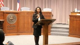 photo of Lisa Cupid at swearing-in ceremony