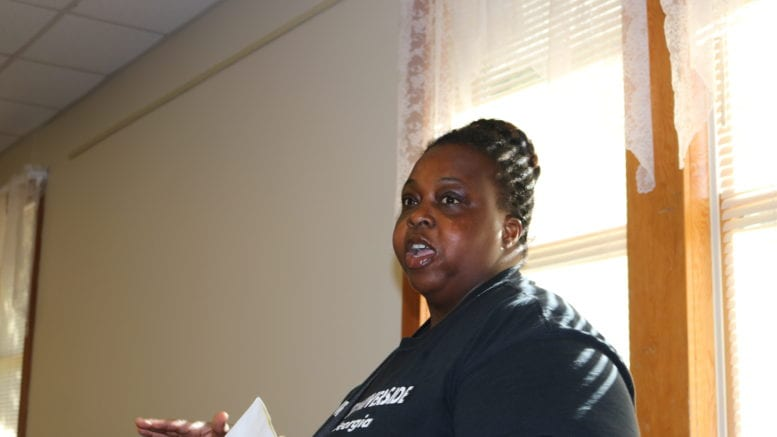 Monica Delancy of the We Thrive Riverside Renters Association