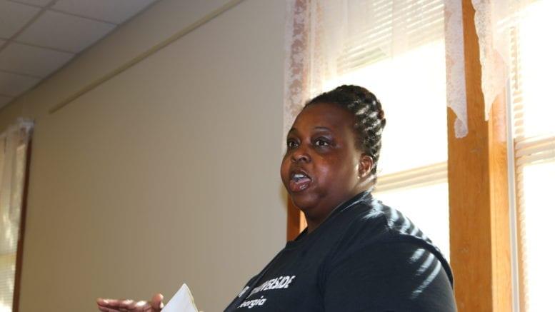 Monica Delancy of the We Thrive Riverside Renters Association