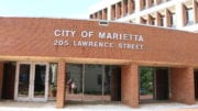 Marietta City Hall for Marietta police chief's article about the arrest of two robbery suspects he compared to Bonnie and Clyde