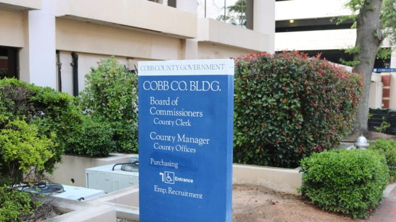 Cobb County government building - photo accompanies new Cobb businesses article (photo by Larry Felton Johnson)