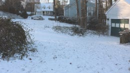 Snow in Mableton last year -- photo by Larry Felton Johnson