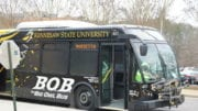 KSU bus in article about Career Fair
