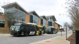 Kennesaw State University buses -- in article about Pamela Whitten