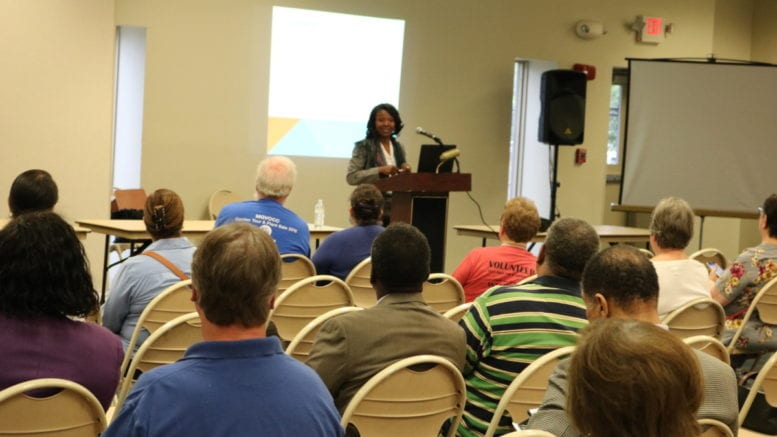 Cobb County District 4 Commissioner Lisa Cupid delivers the State of the District address (photo by Larry Felton Johnson)