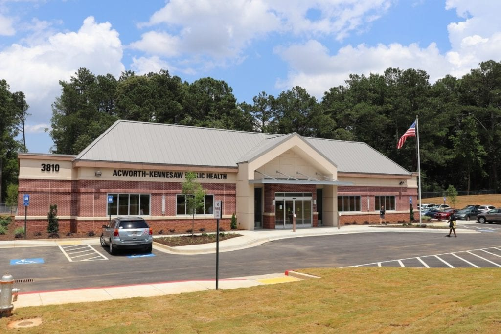 Acworth-Kennesaw Public Health Center building (photo courtesy of Cobb & Douglas Public Health)