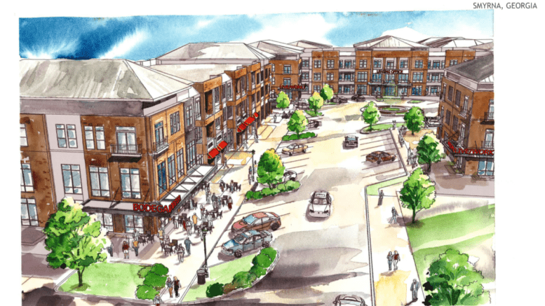 renderings of proposed development submitted to Smyrna Planning & Zoning
