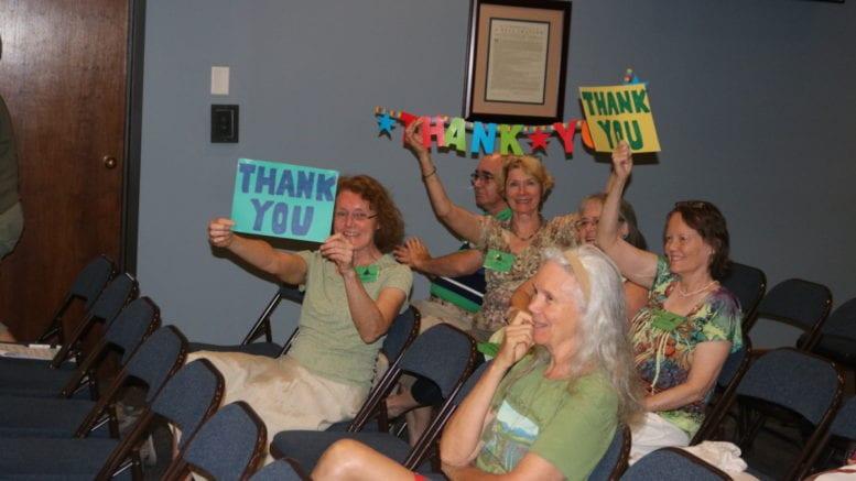 Cobb park advocates celebrating vote to buy Tritt property (photo by Larry Felton Johnson)