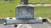 Headstones at Mount Harmony Baptist Church cemetery in Mableton Georgia.