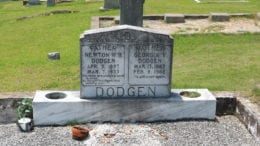 Headstones at Mount Harmony Baptist Church cemetery in Mableton Georgia.