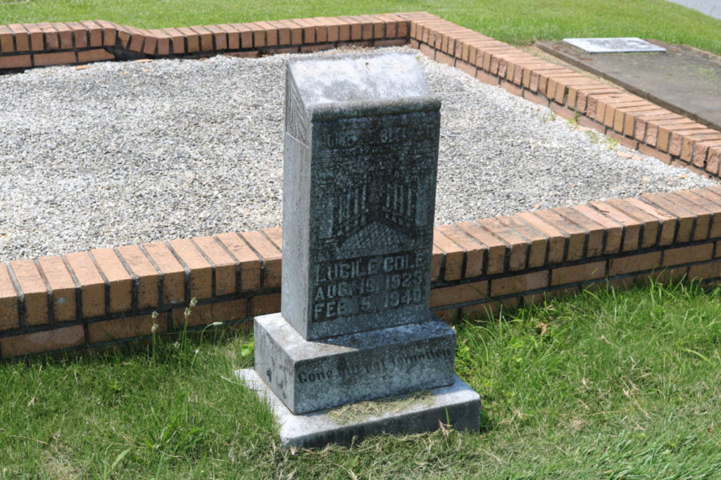 Headstones at Mount Harmony Baptist Church cemetery in Mableton Georgia (photo by Larry Felton Johnson)
