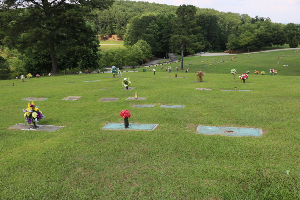 Markers at Mount Harmony Memorial Gardens (photo by Larry Felton Johnson)