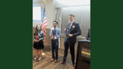 Ana Martinez, Eddie Richardson, and Charles Milliron receive scholarships from Smyrna Business Association