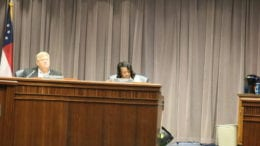 Lisa Cupid's closing remarks at the millage rate increase hearing -- this photo ac (photo by Larry Felton Johnson)