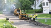 Crew at work on a repaving project in Mableton (photo by Larry Felton Johnson)