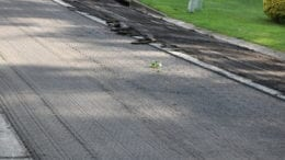 Section of road during the repaving process in article about I-75 lane and ramp closures(photo by Larry Felton Johnson)