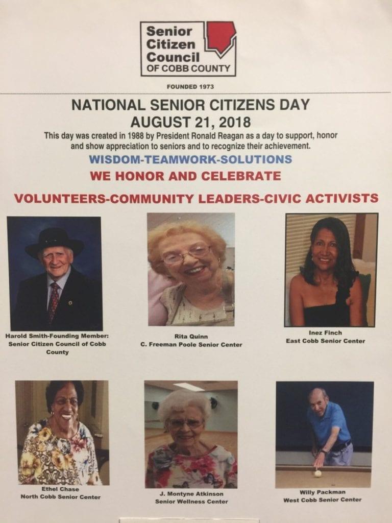 Senior Citizen Council of Cobb County flyer