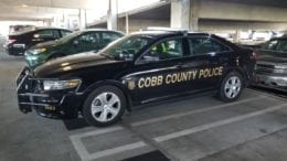 Cobb County Police car in article about Mableton man killed in traffic accident on Hicks Road