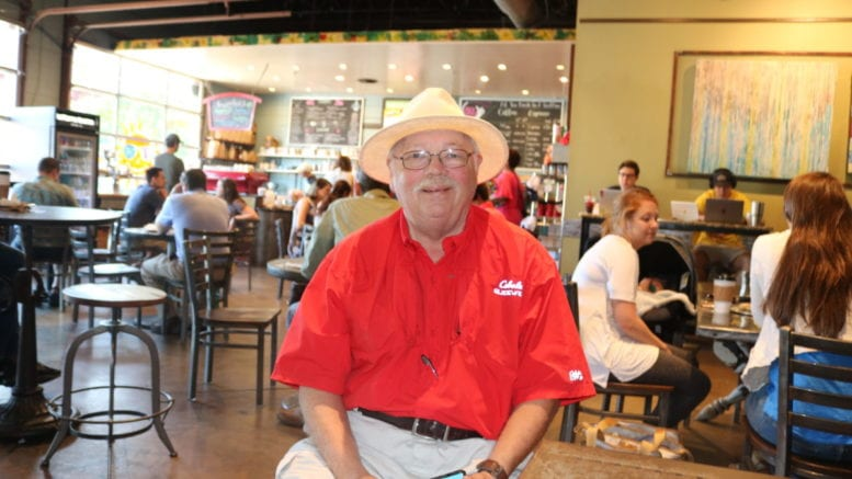 Jim Williams, volunteer legislative ambassador for the Georgia Alzheimer's Association at Rev Coffee Roasters in Smyrna