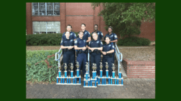 Cobb Police Explorers display their trophies at the annual MACE competition (photo courtesy of the Cobb County Police Department)