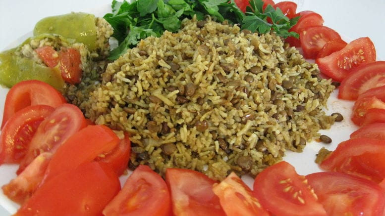 Vegan Rice and Lentils in article about Veg Fest