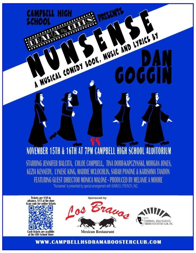 Annoucement flyer for Nunsense