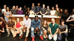 The cast of the Kennesaw State University production of Our Town. (photo courtesy of KSU)