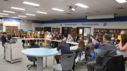 Education roundtable at Campbell Middle School (photo by Larry Felton Johnson)