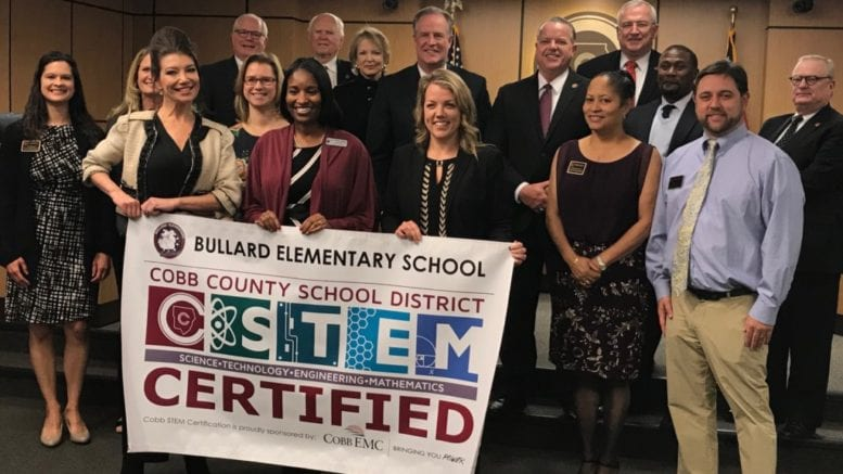 Bullard Elementary received recognition for becoming STEM certified. (photo by Rebecca Gaunt)