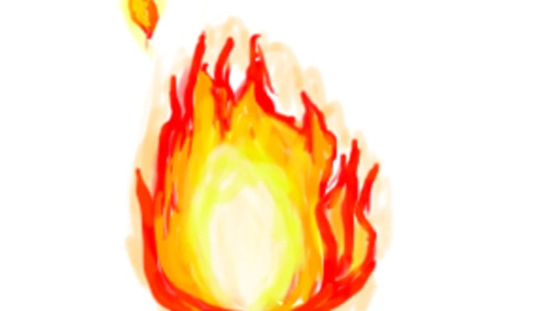 Fire (released into the public domain by the creator, Mackie Drew)