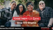 poster showing a black family and announcing National Black HIV AIDS Awareness Day
