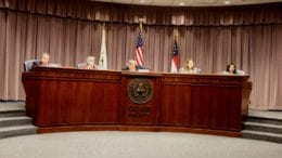 Cobb Commissioners at february BOC zoning hearing (photo by Larry Felton Johnson)