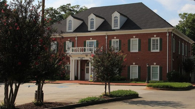 photo of Powder Springs City Hall in article about incorporation Powder Springs