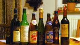 bottles in a row in article about alcohol free weekend