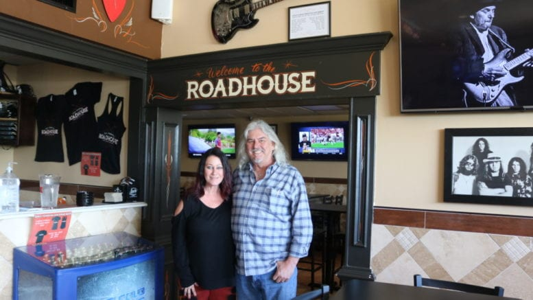 Liz and Randy Snyder at the Full Throttle Roadhouse (photo by Larry Felton Johnson)