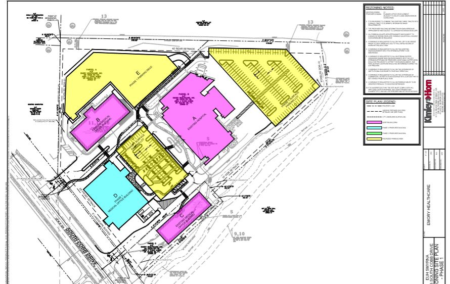 Site plan from the City of Smyrna website.
