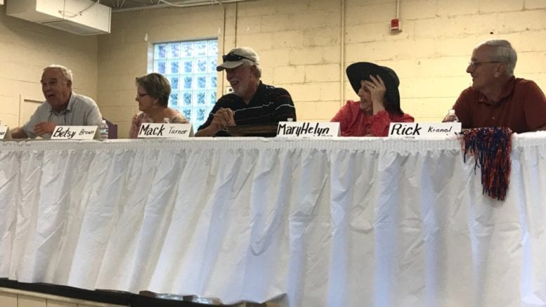 Joe Bozeman, Betsy Brown, Mack Turner, MaryHelyn Hagin and Rick Kienel shared what it was like to grow up in Acworth and Kennesaw.