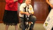 David Birkenbine and his dog Loretta