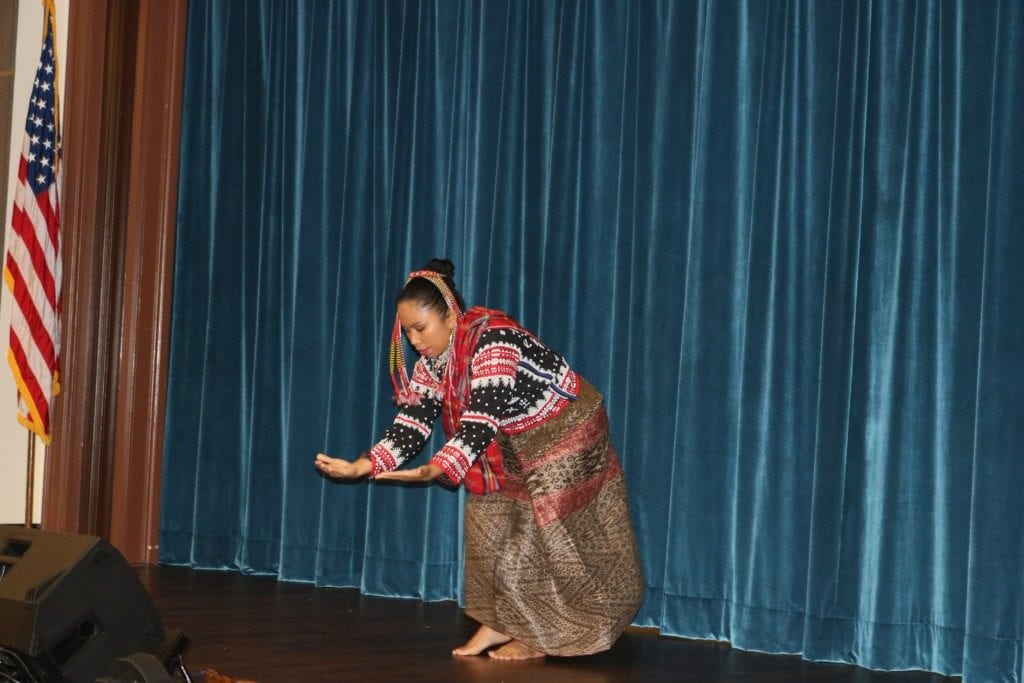 Josephine Arjho Latimban Carino Turner performs traditional Baan dance