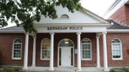 Front of Kennesaw police headquarters in article about Kennesaw burglary