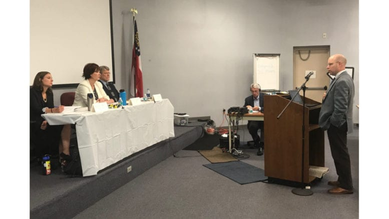 """Stephen Stetson of the Sierra Club's Beyond Coal campaign referred to Georgia Power's plan as """"cap and run."""" (photo by Rebecca Gaunt)"""