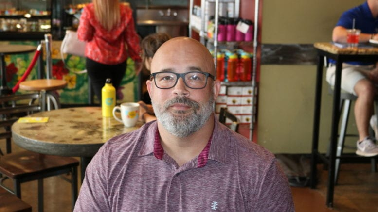 James Herndon at Rev's Coffee Rosters in Smyrna (photo by Larry Felton Johnson)