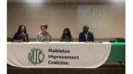 Guest speakers at MIC education forum. (Left to Right) Dr. Teresa Hargett, Principal- Floyd Middle School; Dr. Denise Magee, Principal-Lindley Sixth Grade Academy; Dr. Dana Giles, Principal-Pebblebrook High school; Dr. T.J. Perry, Principal- South Cobb Highschool. (Photo by Haneefa J. Walton/September 24, 2019.)