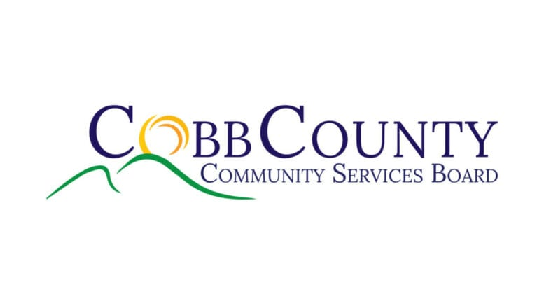 Cobb County Community Services Board logo in article stating that the CCCSB remains open