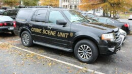 Cobb County Police Department Crime Scene Unit vehicle in article about Austell-area homicide